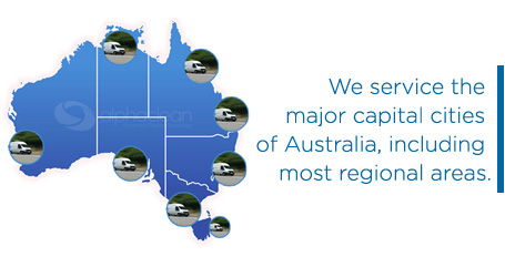 We service the major capital cities of Australia, including most regional areas.